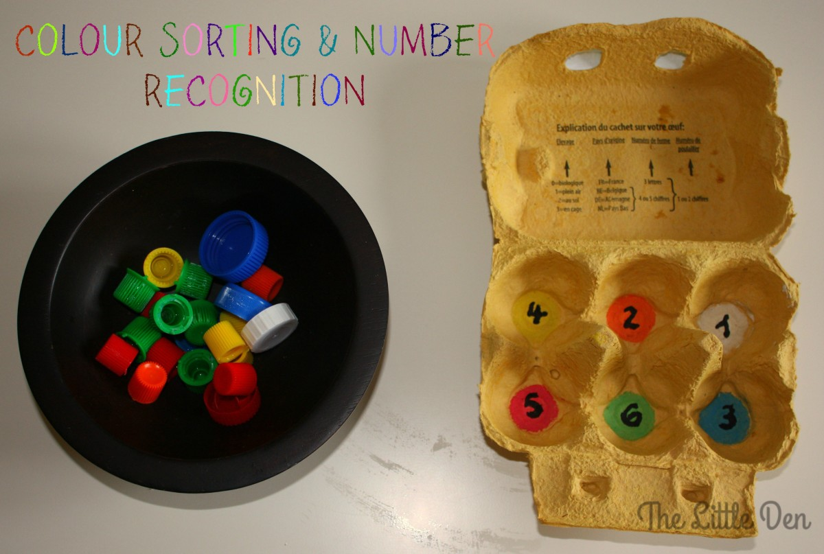 Egg Carton Colour Sorting & Number Recognition