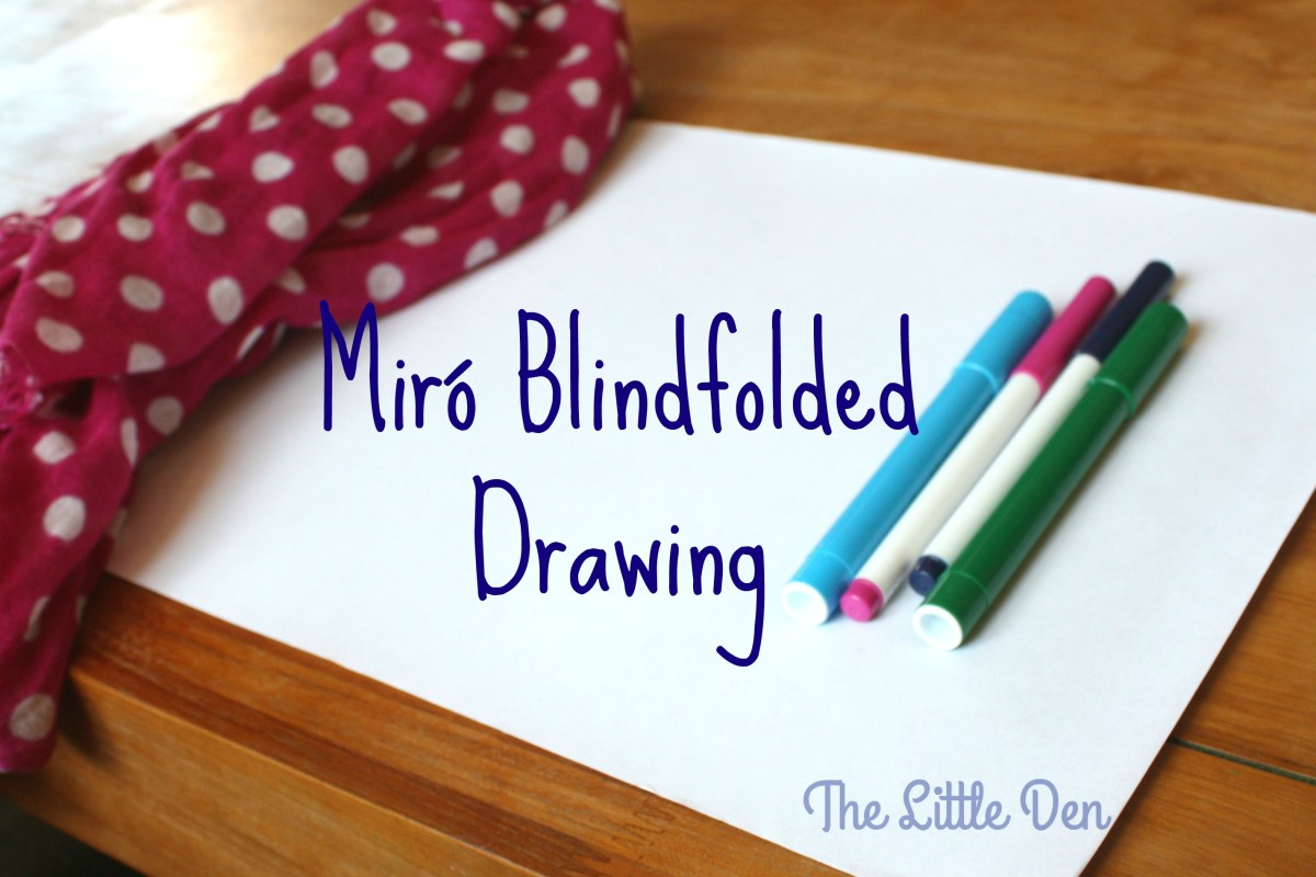 Miró Style – Blindfolded Drawing!
