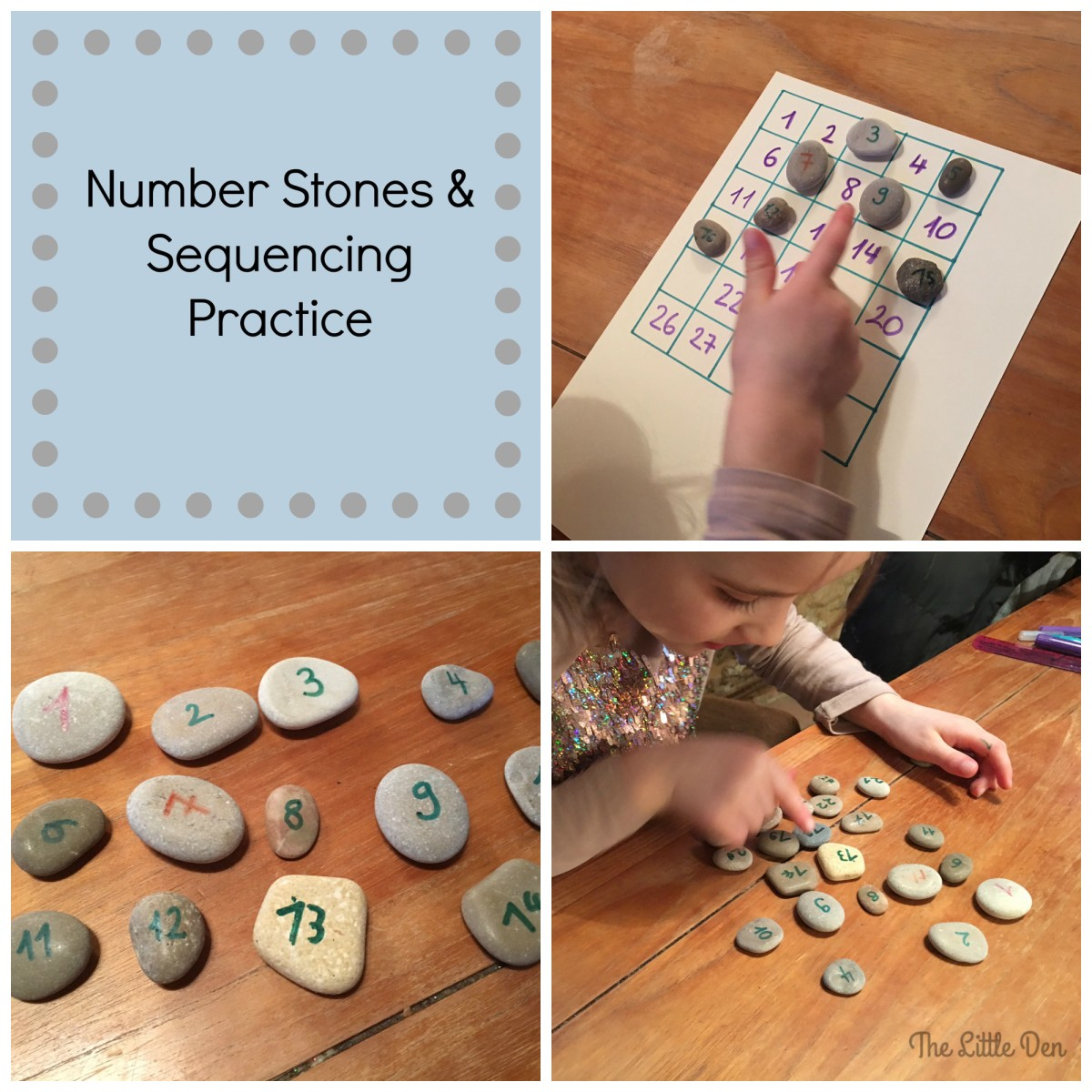 Number Stones and Sequencing Practice