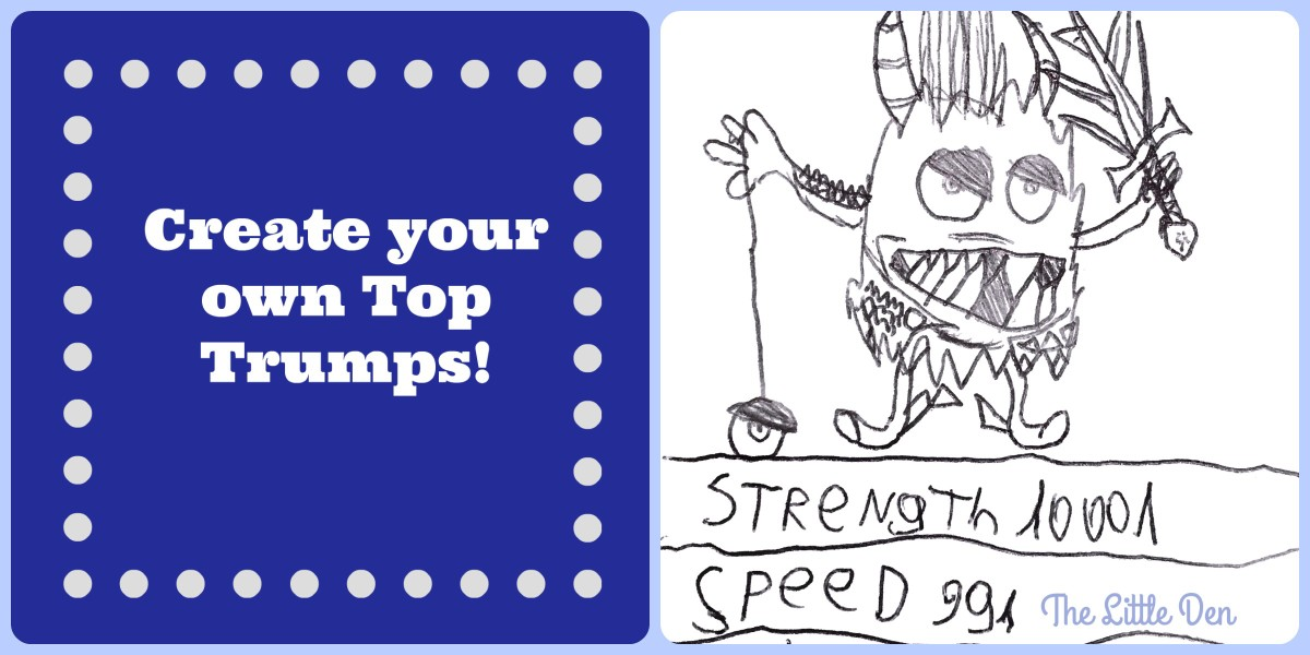 Make your own Top Trumps! Numeracy, Literacy & Writing Practice