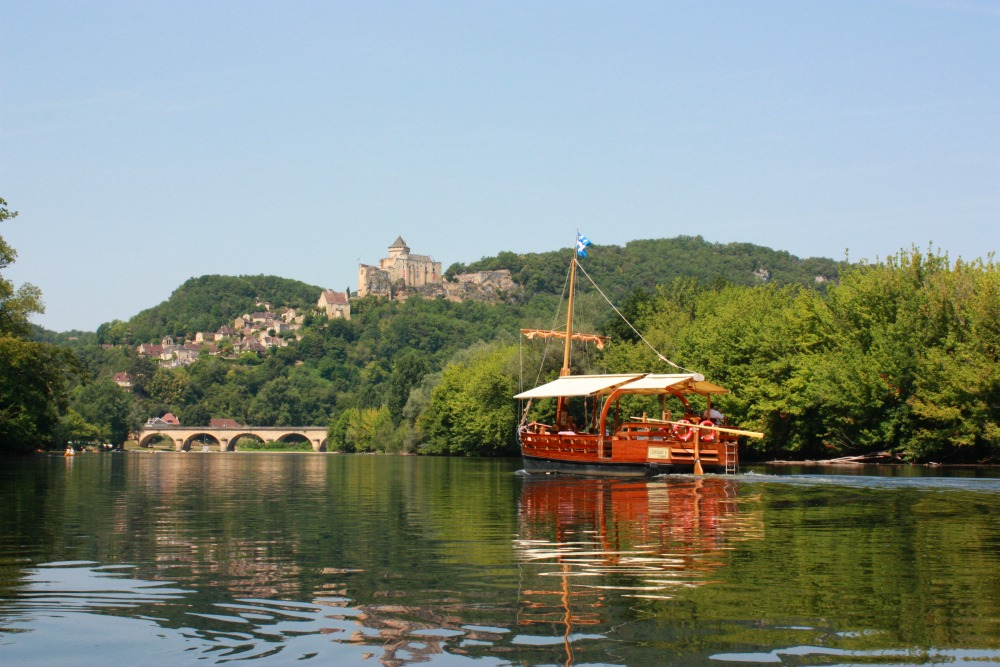 View of the Dordogne River and the Chateau of Castelnaud
