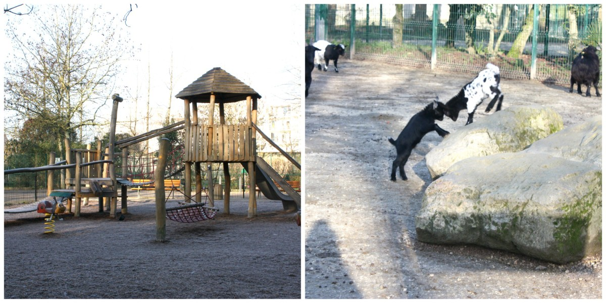 Goats in the park at La Rochelle