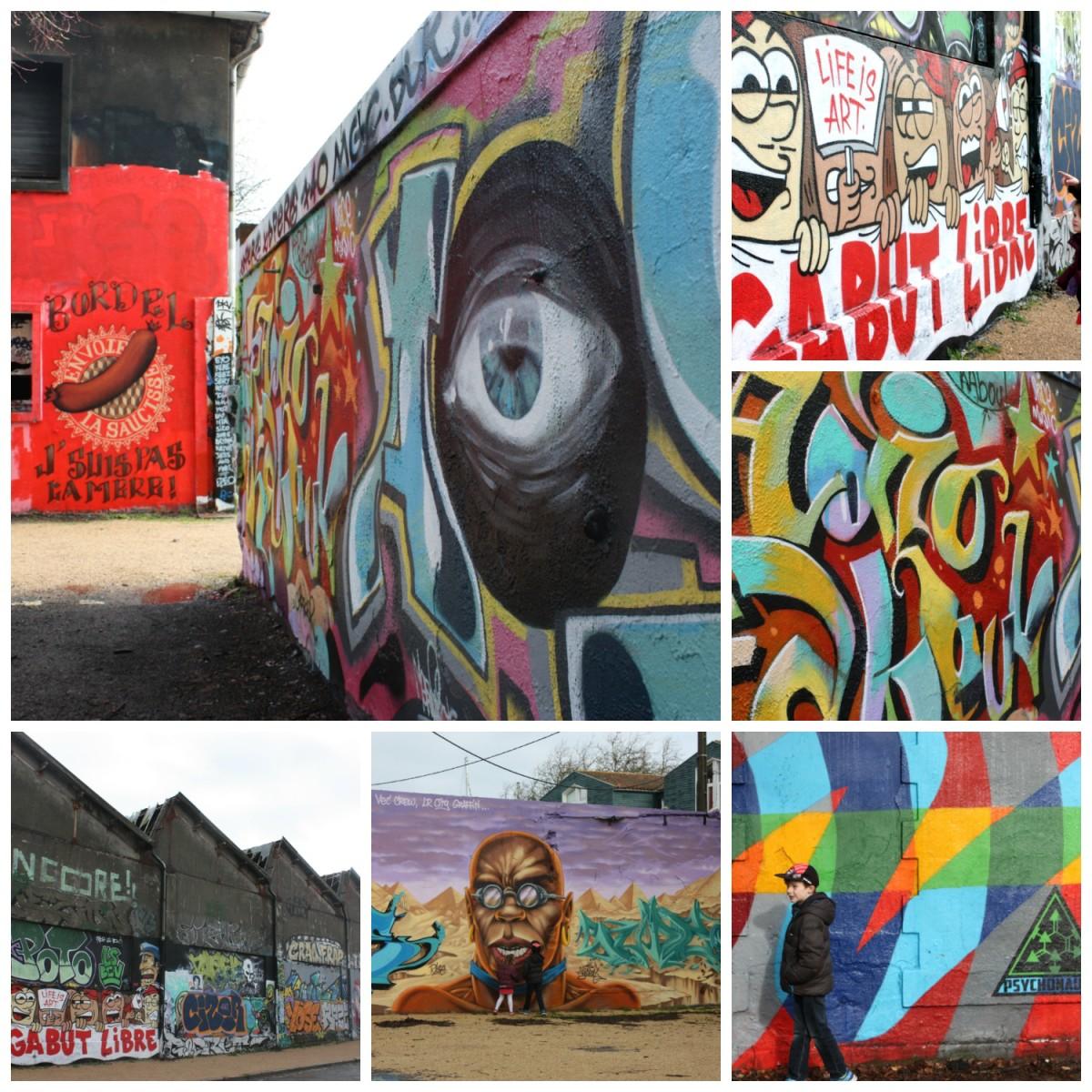 Graffiti art in Quartier Gabut in La Rochelle