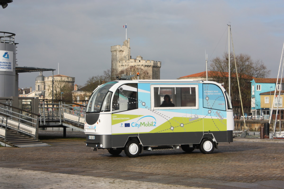 Self-driving bus in La Rochelle