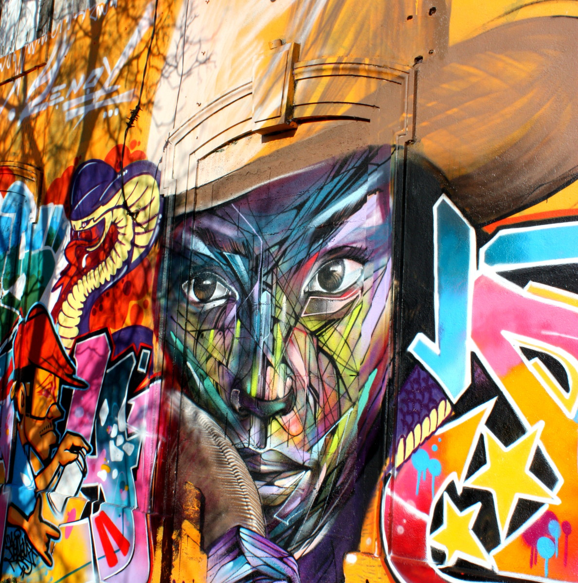 Face - graffiti art - La Rochelle