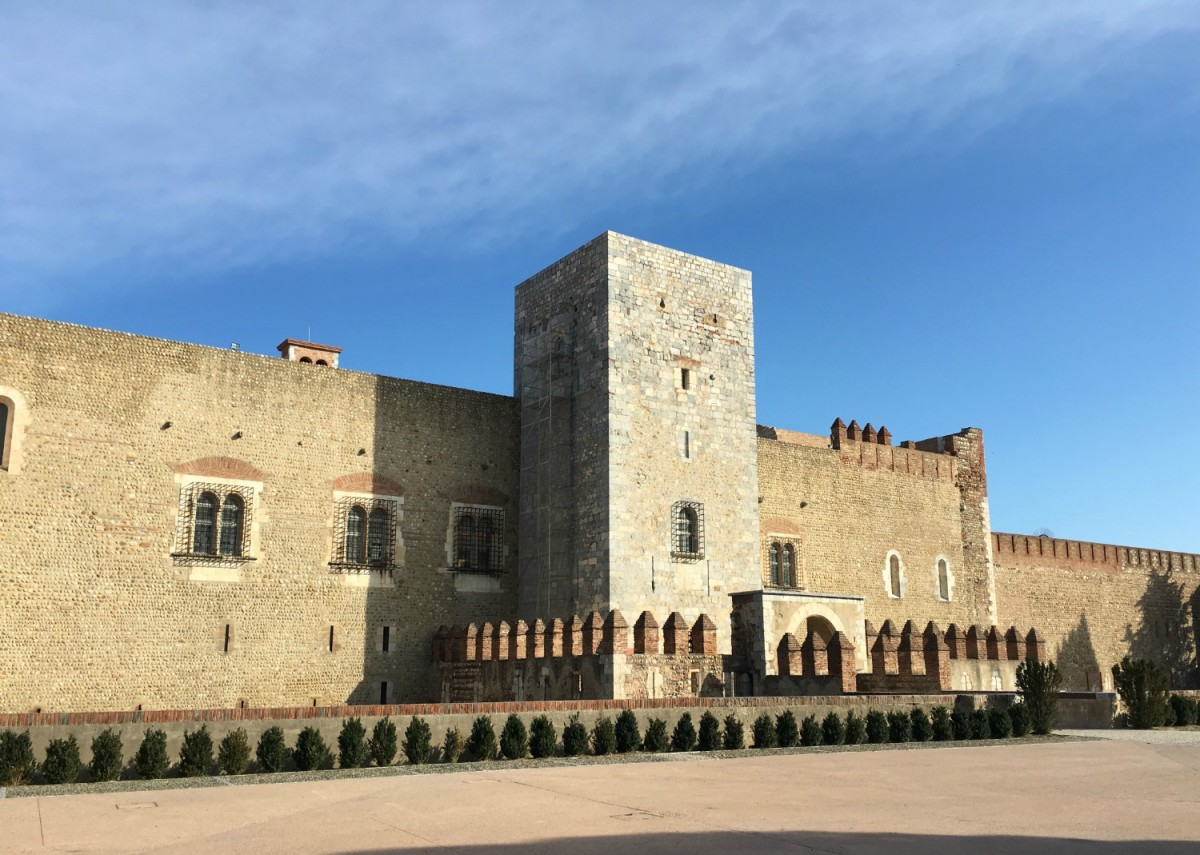 The imposing Palace of the Kings of Mallorca, Perpigan