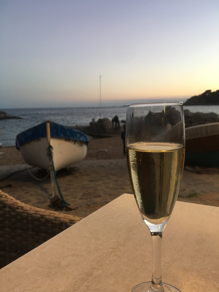 Cava at sunset