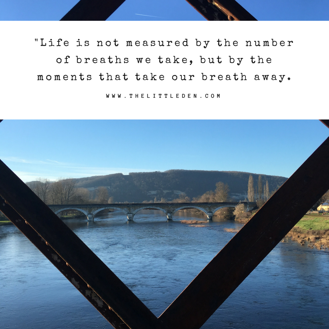 Travel quote: Life is not measured by the number of breaths we take, but by the moments that take our breath away.