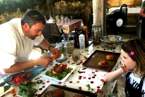 Kids Cookery Course Dordogne - Salad Prep