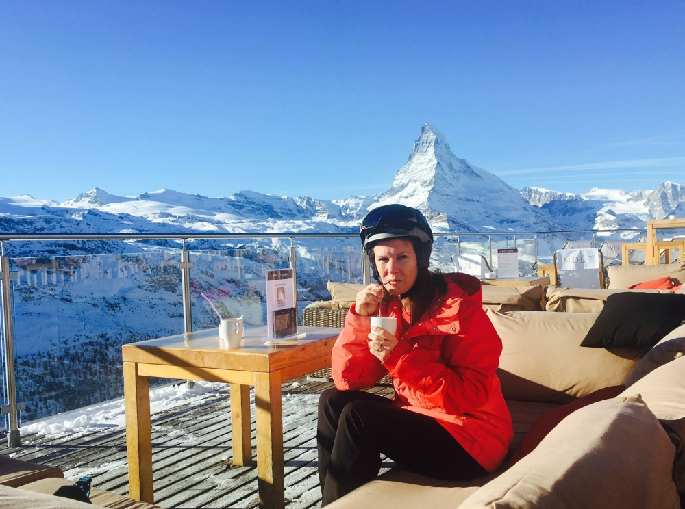 Hot Chocolate on the Slope, Zermatt
