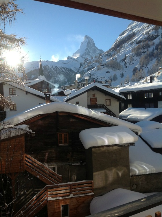 View from Apartment, Zermatt Matterhorn