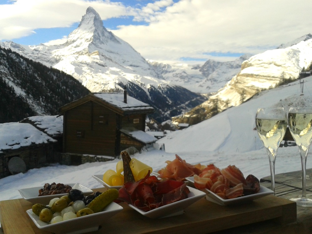 Visiting Zermatt with kids - lunch at Chez Vrony