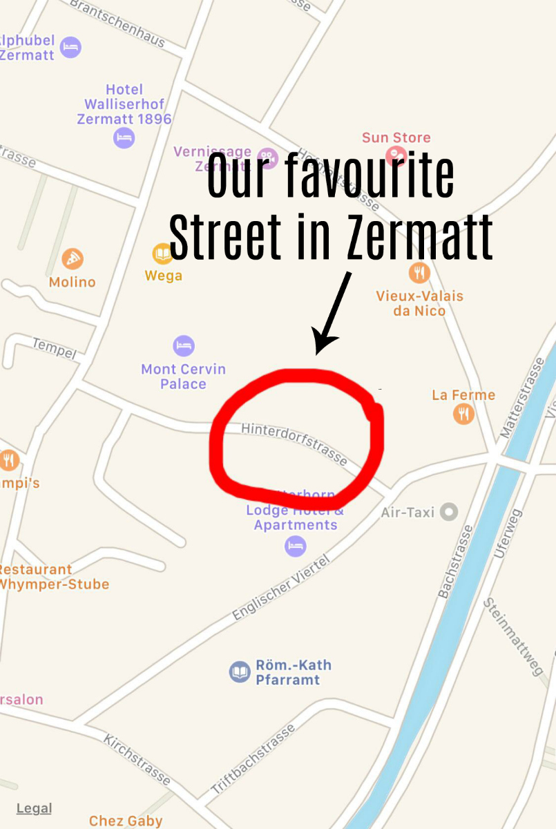 Visiting Zermatt with kids - our favourite oldy worldy street