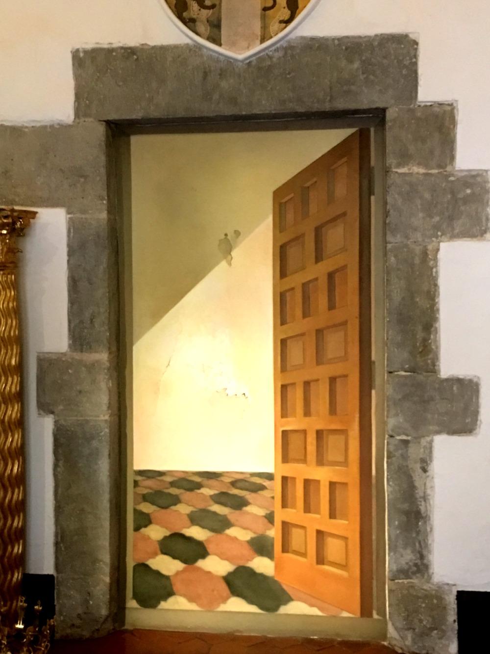 Dali's Trompe l'oeil in Gala's castle in Pubol