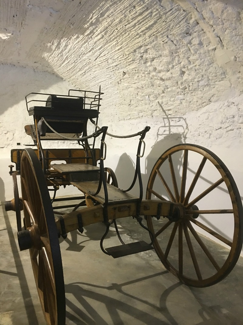 Gala's carriage in Pubol Castle