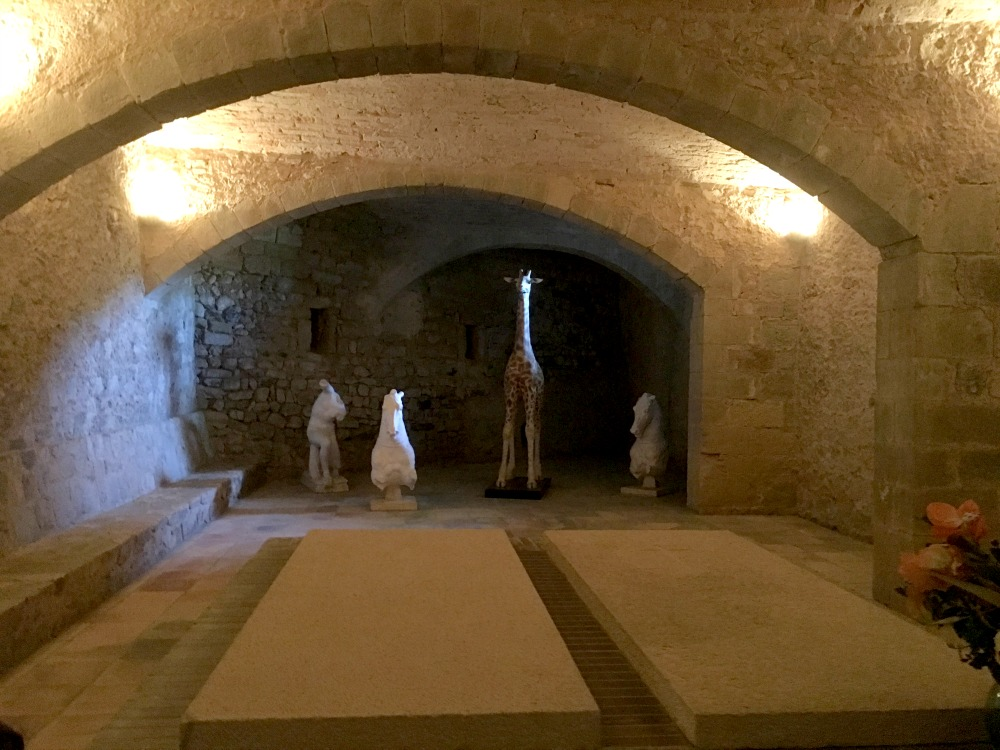 The crypt: Gala's tomb in her castle in Pubol