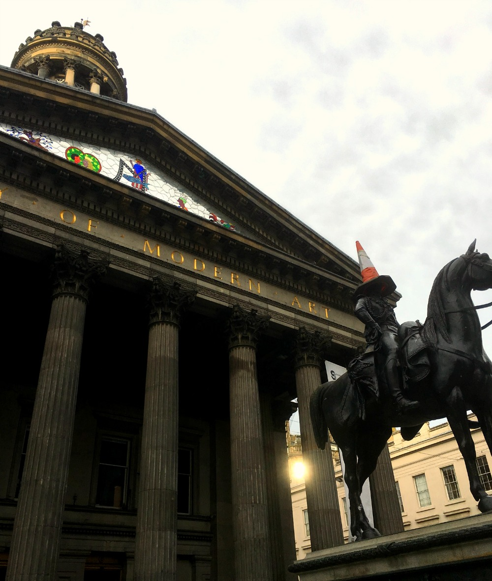 Glasgow - Gallery of Modern Art, Duke of Wellington Statue