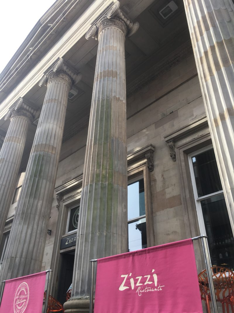 Glasgow - Zizzi's restaurant, Royal Exchange Square