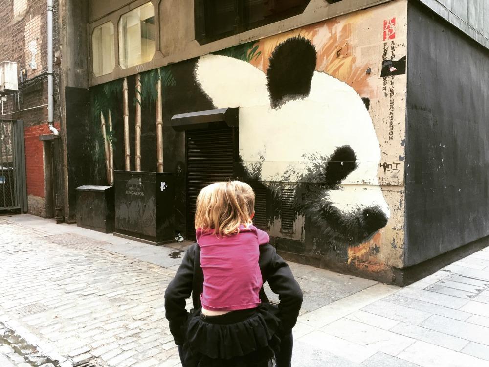 Glasgow - Street Art Mural, Panda