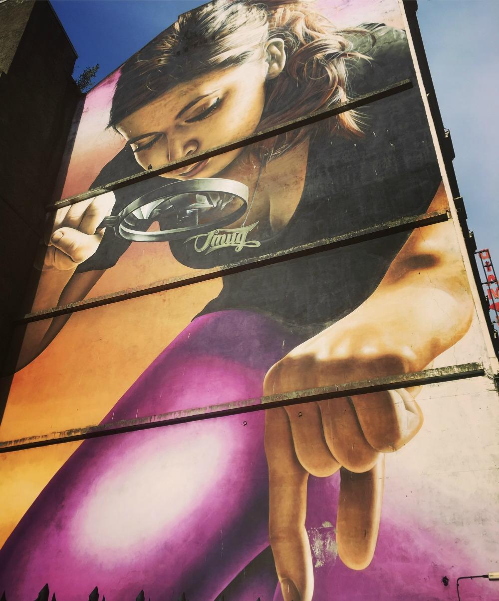 Glasgow - Street Art Mural, Honey I Shrunk the Kids, Smug