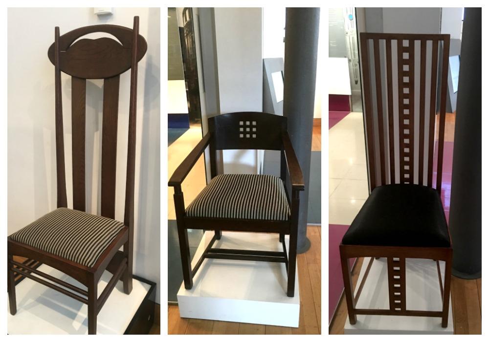 Glasgow, The Lighthouse - Charles Rennie Mackintosh Chairs