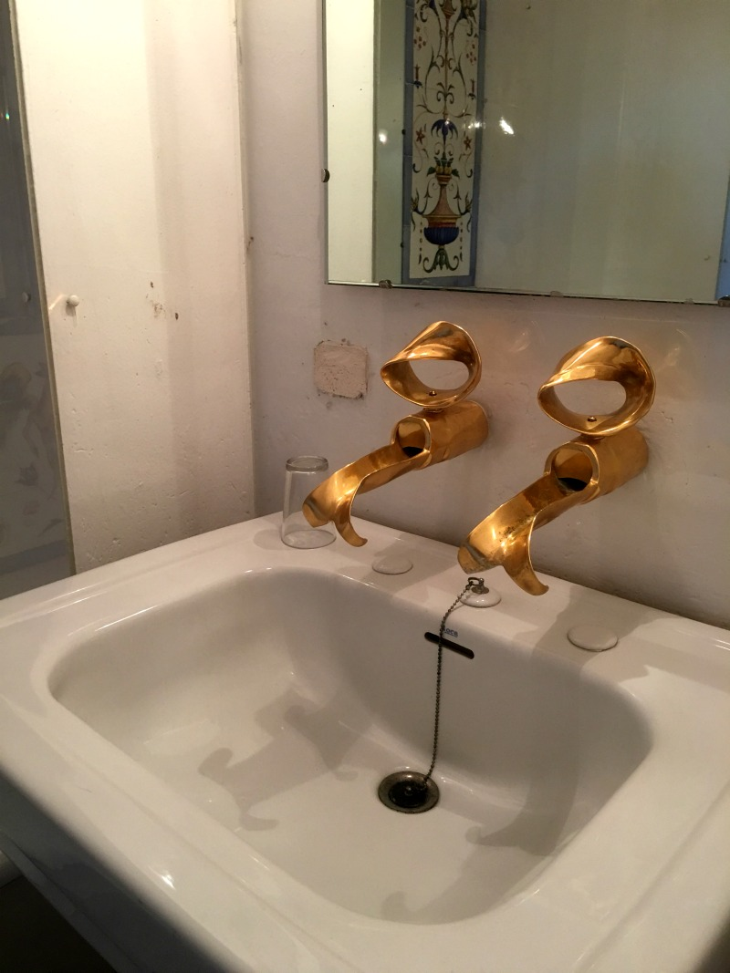 Golden taps in Gala's bathroom, Pubol Castle