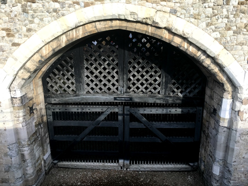 tower of London - traitor's gate from outside the Tower