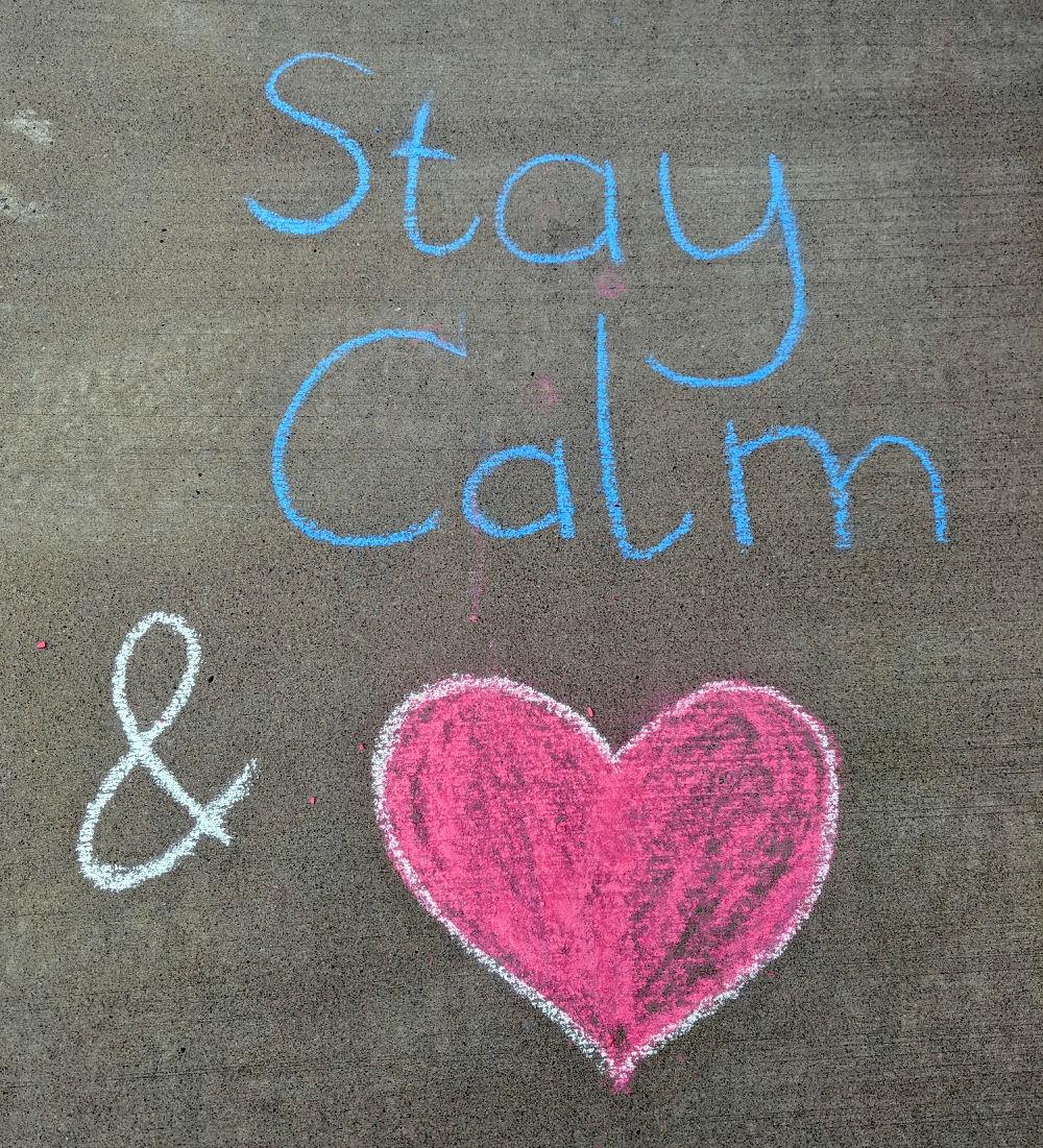 Heart - chalk the walk