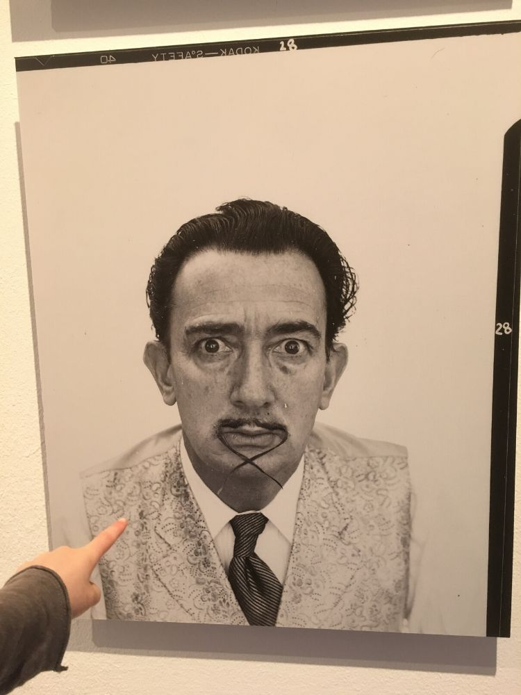 Self portrait of Dali in Figueres museum